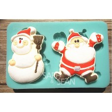 "Молд ""Дед Мороз и снеговик"""