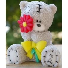 "Молд 3D ""Мишка Тедди с цветком"""